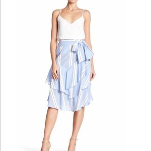 Romeo and Juliet Couture stripped ruffle skirt
